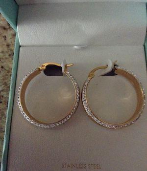 Beautiful Earrings Sterling Silver Swarovski Zirconia
