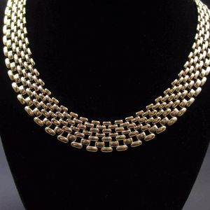 Vintage 16 Inch Golden Stunning Wide Chain Style Necklace Unique Costume Jewelry Fashion Statement Wedding Bohemian Elegant Bridal Cute Cool for Sale in Everett, WA