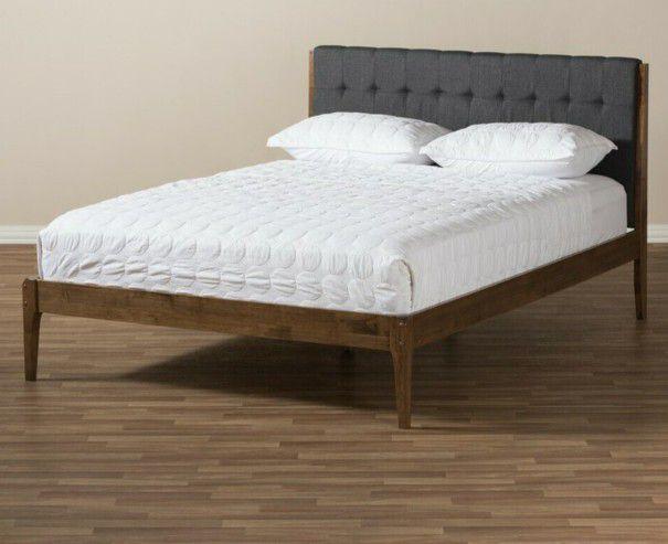 Baxton Studio Clifford  King Platform Bed SW8065-Grey/Walnut-M7-king