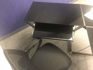 Office Desk - L Shaped Glass Computer Desk for Sale in Sterling, VA