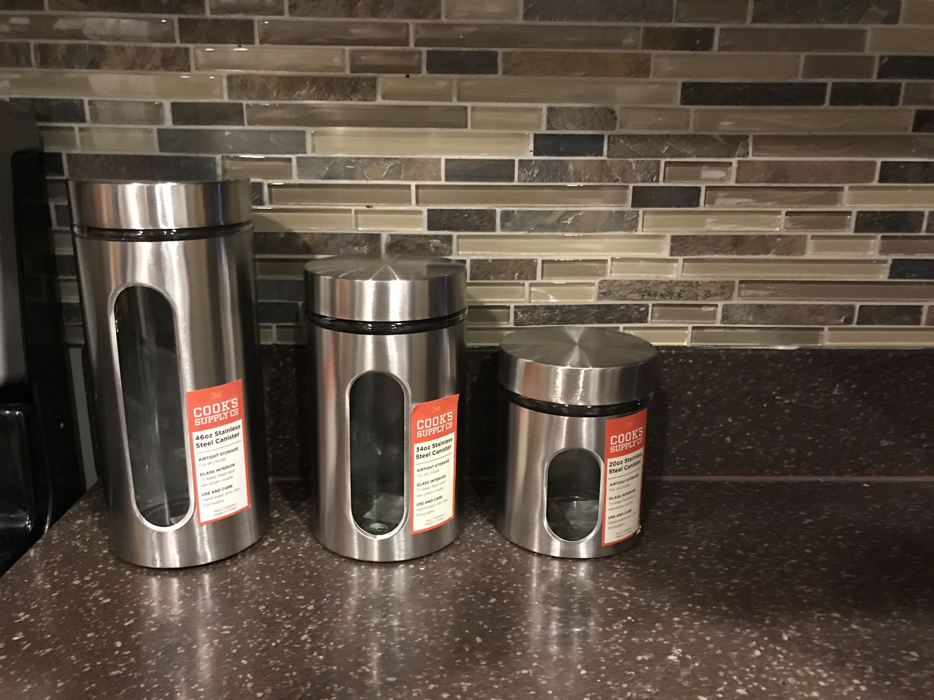 stainless steel canister set new firm price