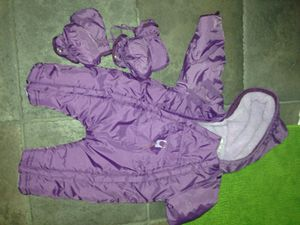 Warm winter outfit baby 6 months girl for Sale in Arlington, VA
