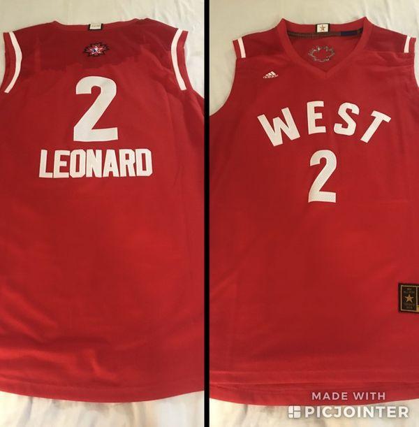 reputable site 9b275 fa337 All Star - XL - NBA - Kawhi Leonard Swingman Jersey - San Antonio Spurs -  Raptors for Sale in Cibolo, TX - OfferUp