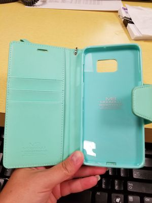 Samsung galaxy s6 phone case with card holder for Sale in Charlottesville, VA