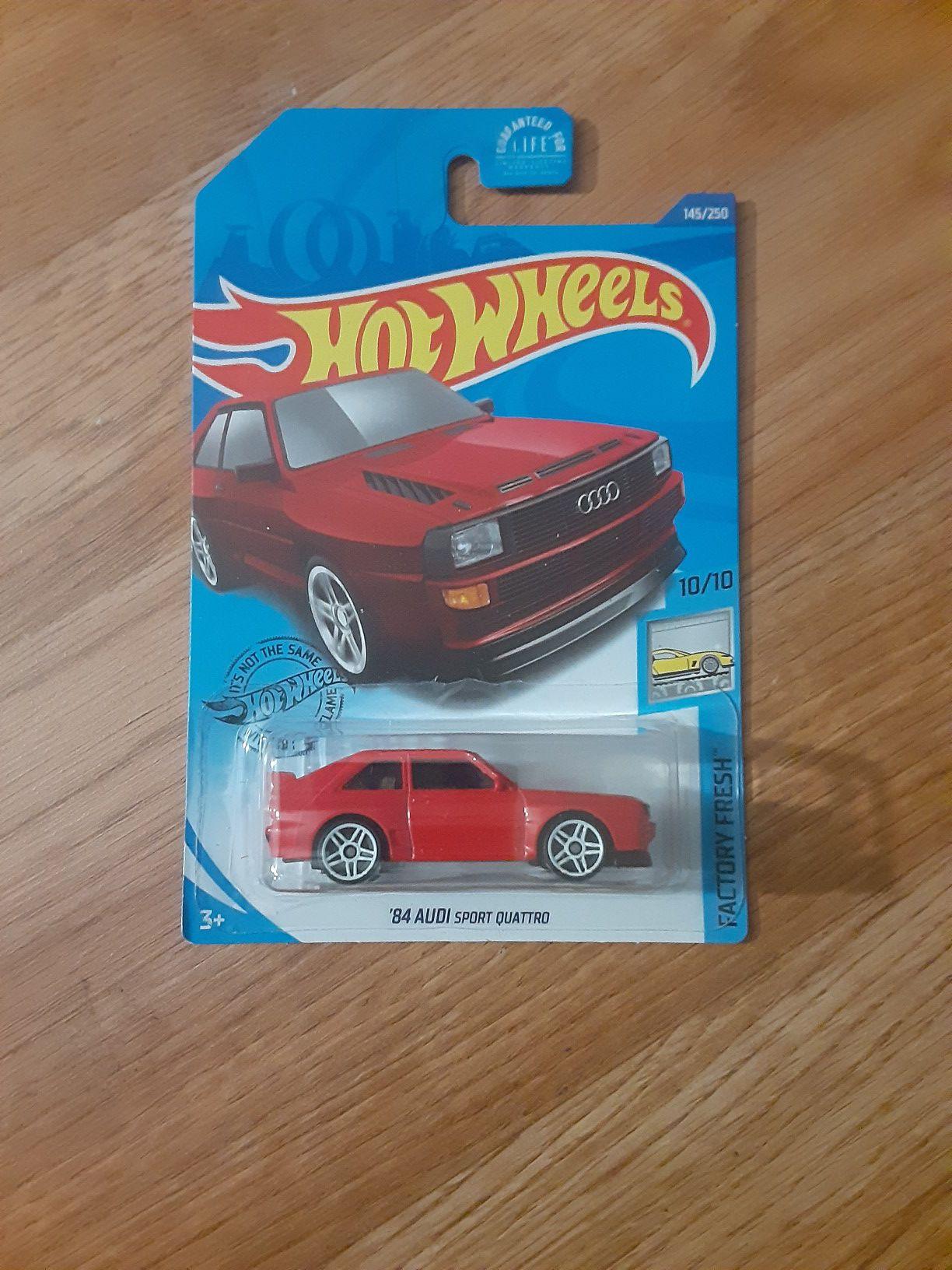 Hotwheels 84 Audi sport quantro