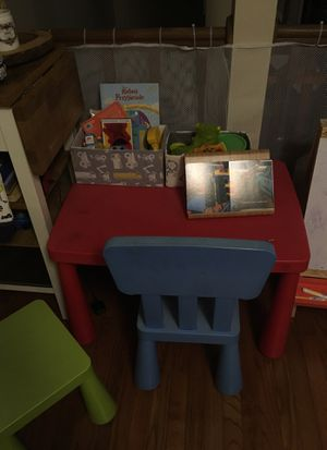 Ikea kids table and 2 chairs for Sale in Reston, VA