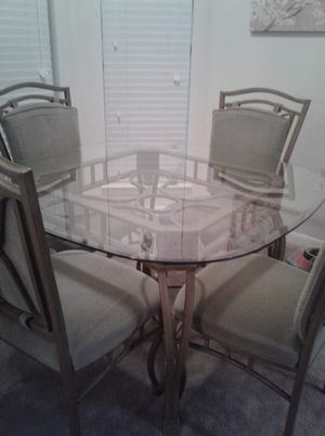 Glass Dining Room Table W Chairs For Sale In San Antonio TX