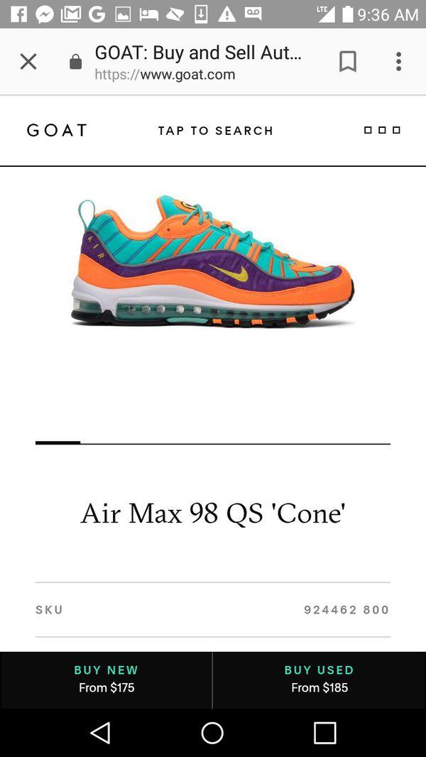 new style 5ead6 3a3e6 Air max cone 98 for Sale in Nashville, TN - OfferUp