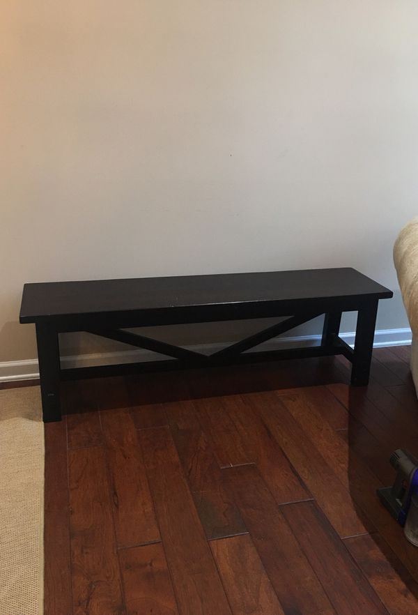 Reduced Pottery Barn Rustic Wooden Bench Retail 499 For Only 125