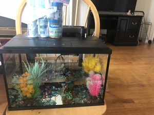 Topfin aquarium with accessories and food for Sale in Falls Church, VA