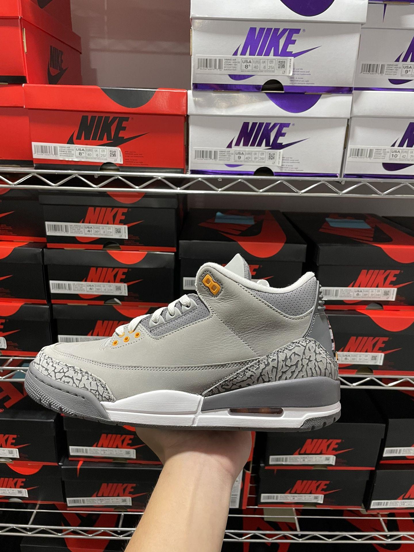 Jordan 3 Cool Grey Size 10.5
