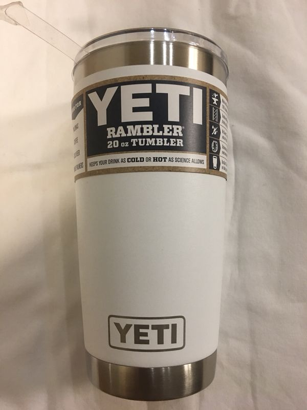 Brand new 20 ounce yeti rambler in white for Sale in San Jose, CA - OfferUp