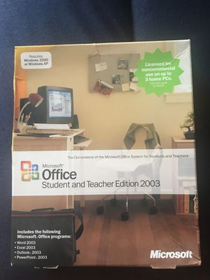 Microsoft office 2003 student and Teacher edition for Sale in Stafford, TX