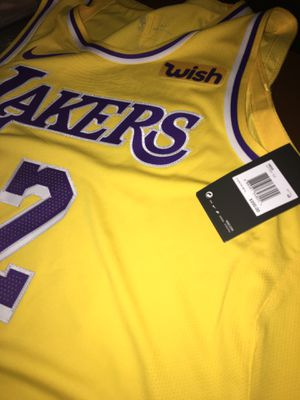 c112bc3673b5 Lonzo ball lakers jersey Authentic Wish patch for Sale in South Gate