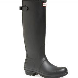 Hunter Rain Boots Matte Black 5 US Women's 4UK Authentic Thumbnail