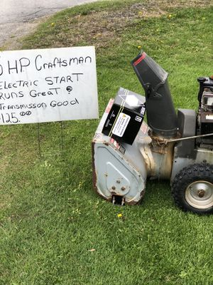 Photo CRAFTSMAN 5 HP SNOW BLOWER WITH ELECTRIC START