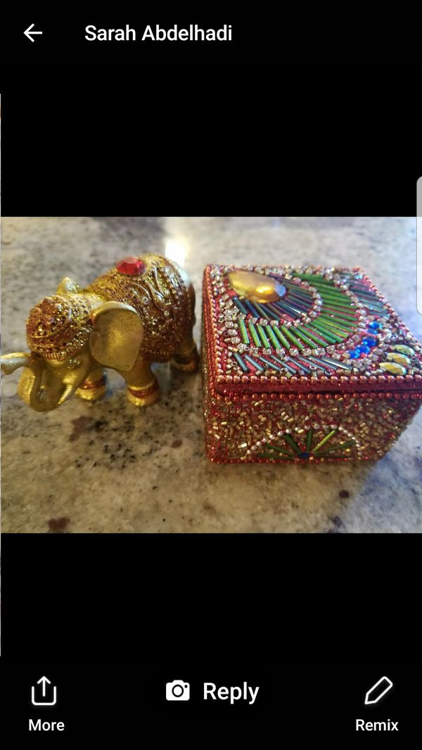 Indian Jewelry Box Elephant Accessories In Mokena Il Offerup