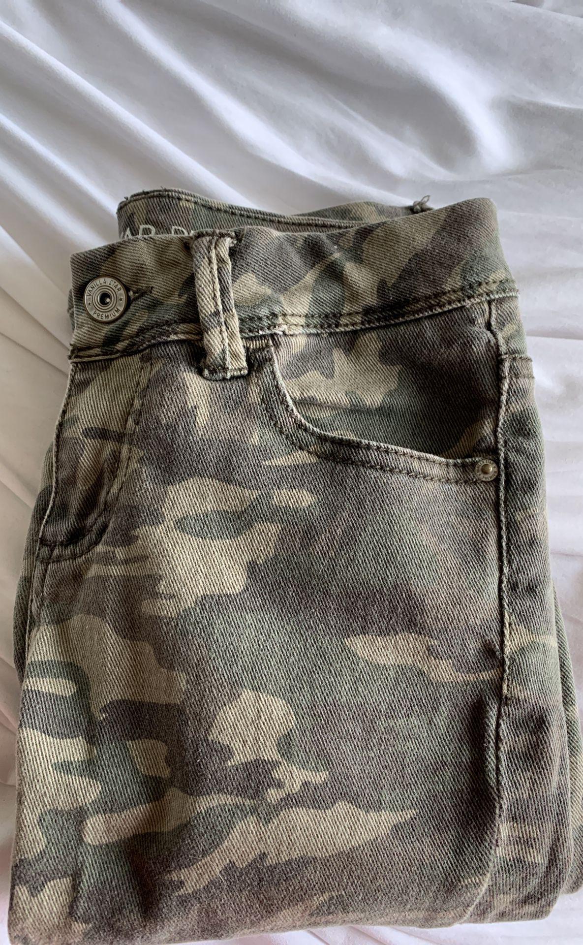 camo skinny jeans
