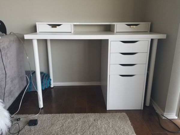 Linnmonalex Ikea Desk System W Added Gold Hardware For Sale In