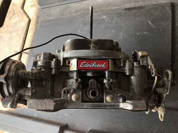 Edelbrock 600CFM carburetor part # 1406 and Edelbrock intake manifold part  #7501 for Sale in Graham, WA - OfferUp
