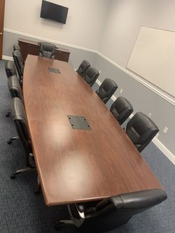 Conference table With Chairs included West Palm Beach Thumbnail