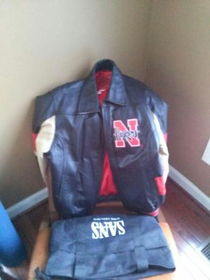 Leather Nebraska Cornhuskers jacket for Sale in Vienna, VA