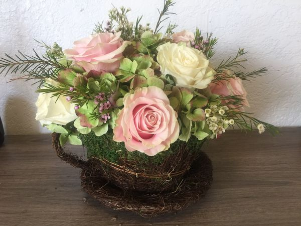 Large Tea Cup Natural Flower Arrangement For Sale In Miami Fl Offerup