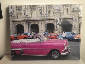 Canvas Photo Printed Cuba Classic Car Scene Wall Art for Sale in Washington, DC