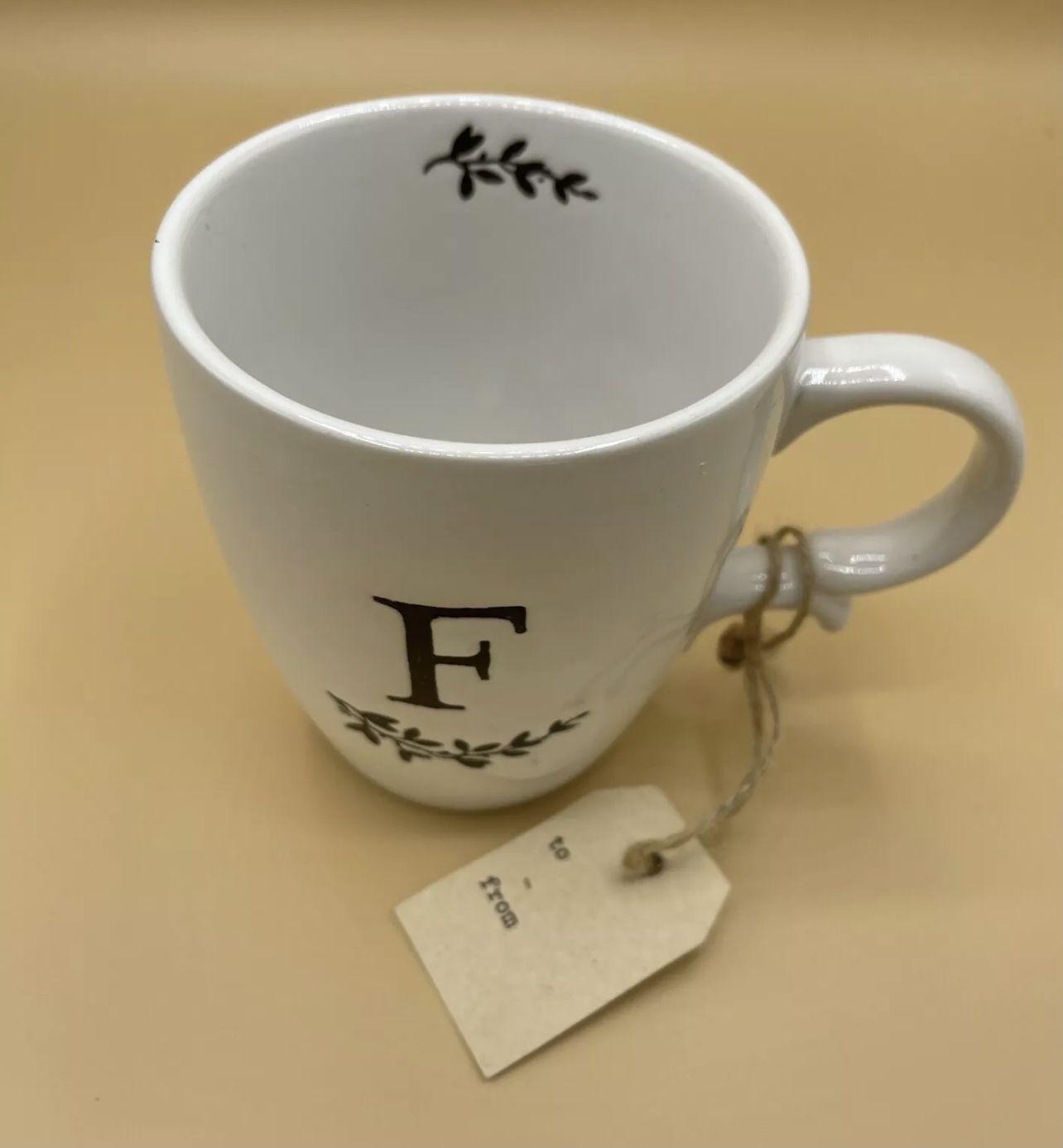 New Monogram Mug Letter F