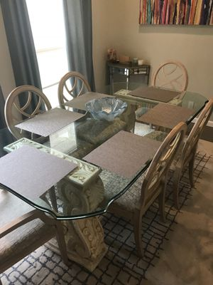 Mediterranean Style Dining Room Set And Console Table For Sale In Knoxville TN