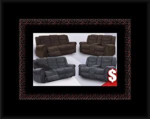 Grey or chocolate recliner set for Sale in Chantilly, VA