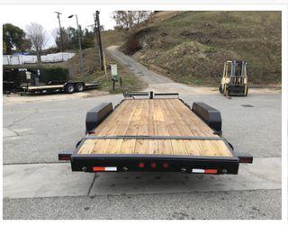 New 83x20 Ironbull equipment trailer * slide in ramps * Thumbnail