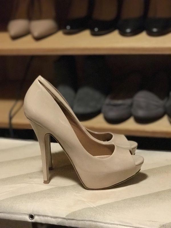 "ad7ee695a2f3 Aldo peep toe pumps, nude, size 6, 4"" heel for Sale in Queens, NY ..."