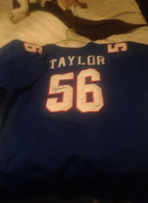 new style 4ed28 c602e Autographed Lawrence Taylor jersey New York giants best offer for Sale in  Easley, SC - OfferUp