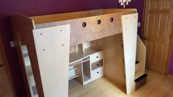 Loft Bed With Desk Berg Furniture Full Size Mattress