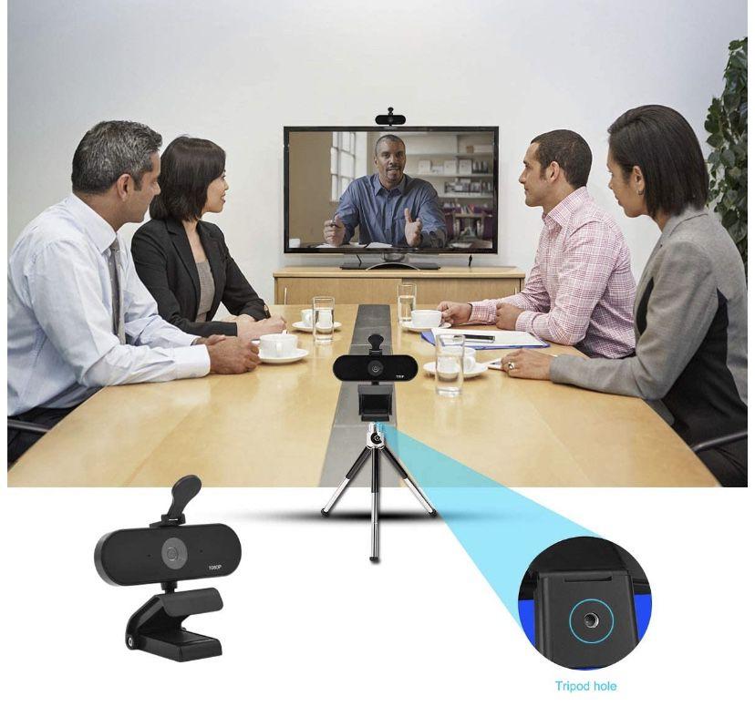 Seeings Guardnes 1080P FHD HD Webcam, USB Desktop Laptop Camera, Mini Plug and Play Video Calling Computer Camera, Built-in Mic, Flexible Rotatable Cl