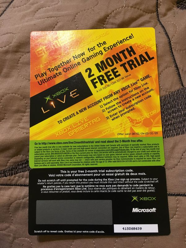 ORIGINAL Xbox Live 2 Month Free Trial for Sale in Austin, TX - OfferUp