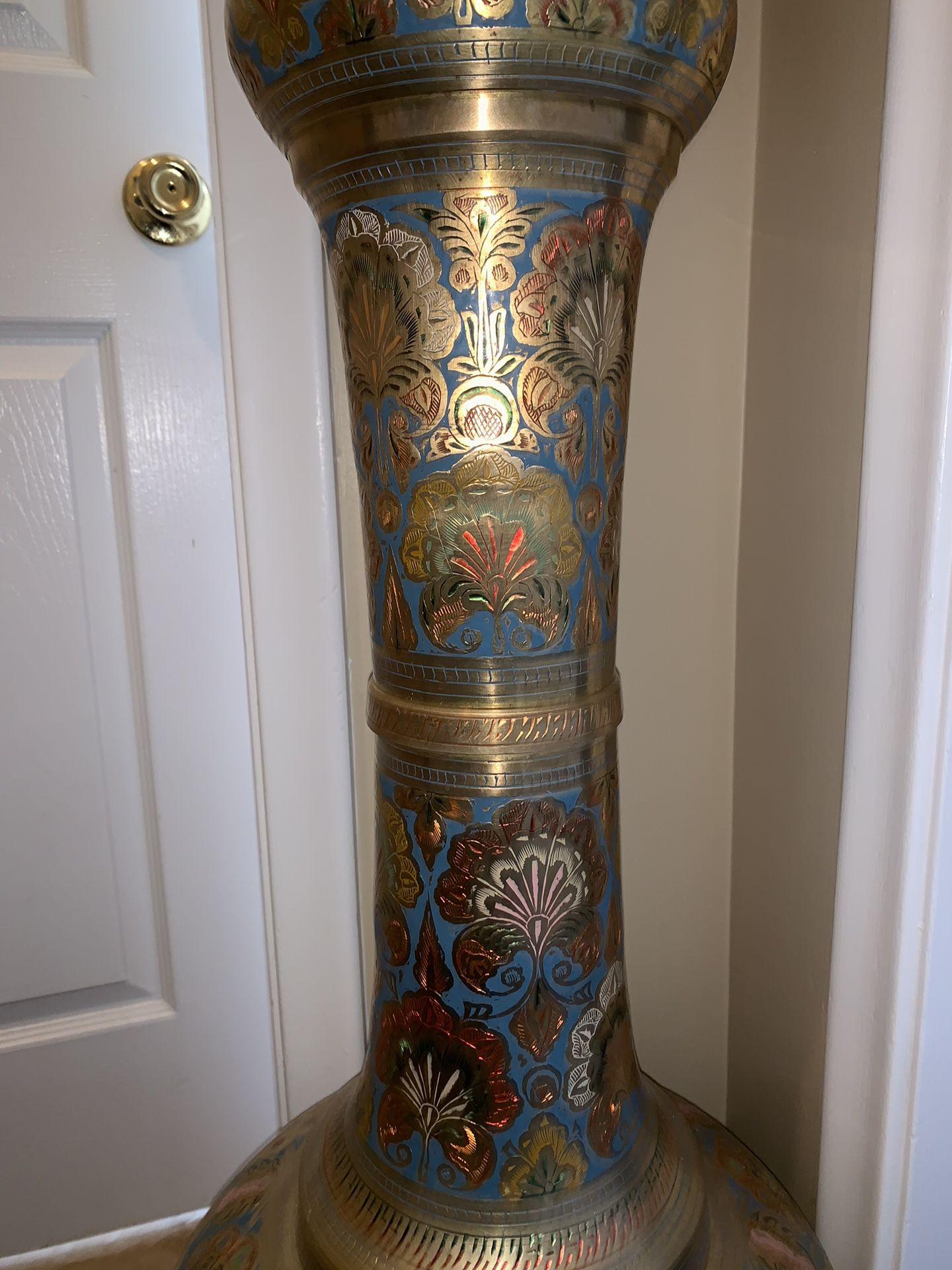 Real brass antique vase
