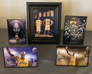 Lakers Framed Pictures Thumbnail