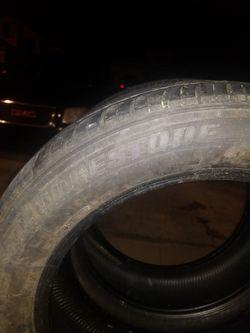 Pair 2 Tires 215-55-17 Brigstone 80%tread Thumbnail