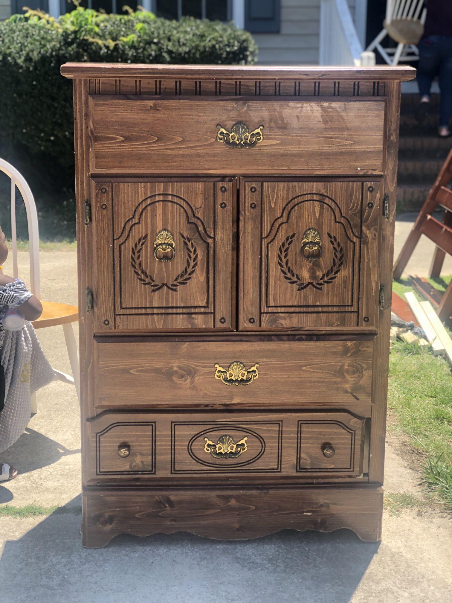 Wooden Dresser $25