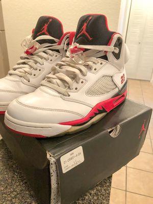 8760253cdfa45a Fire Red 5 s Retro Air Jordan Nike size 8 for Sale in Miami