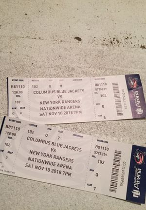 """Columbus Blue Jacket Vs New York Rangers Tickets """"TOMORROW GAMES FRONT SEATS BASICALLY ON THE FLOOR"""" for Sale in Columbus, OH"""