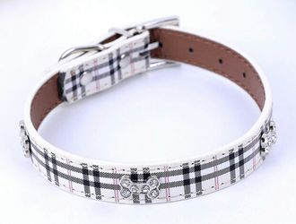 Burberry Print Dog Collars Thumbnail