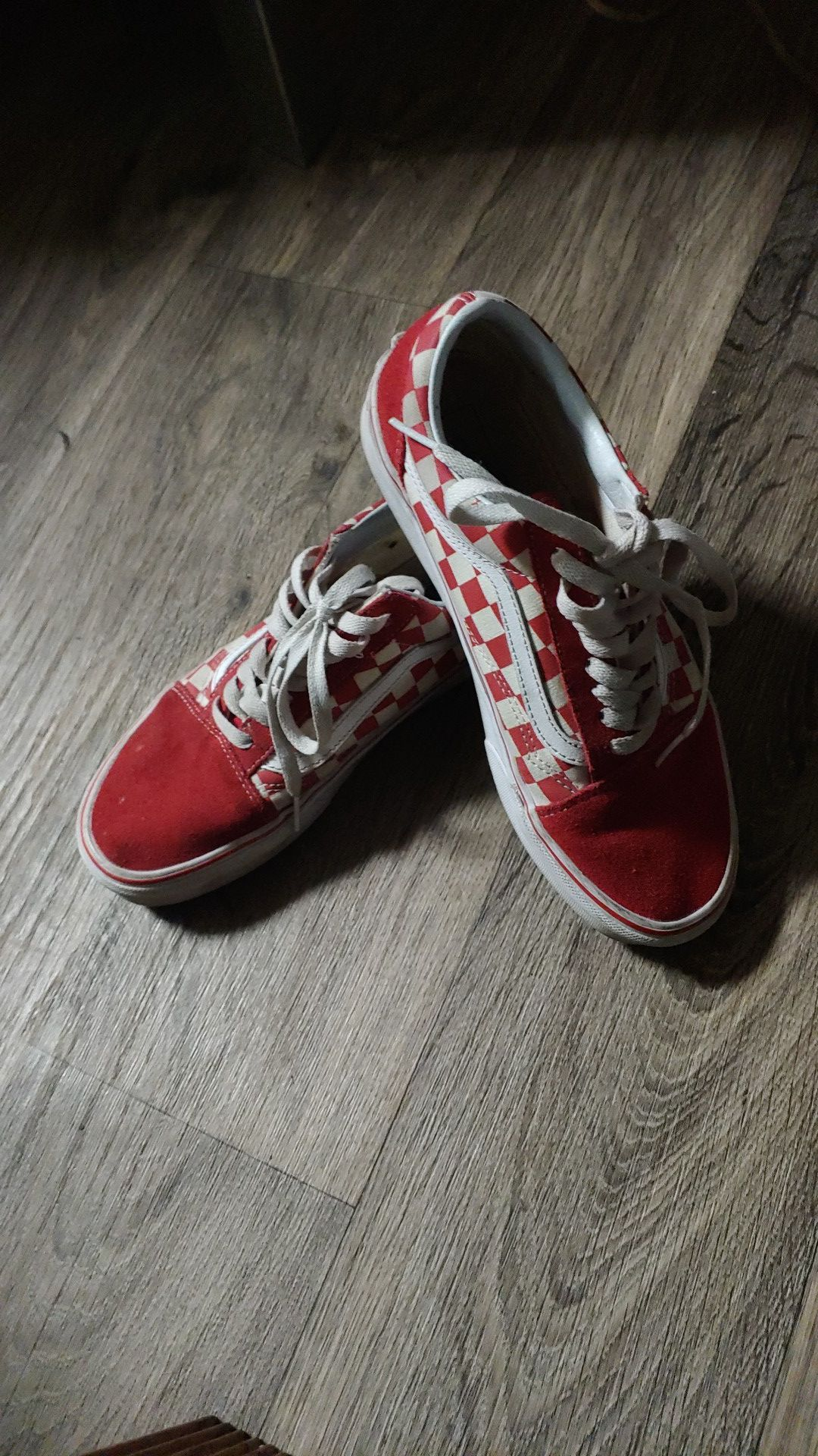 Red vans checkered