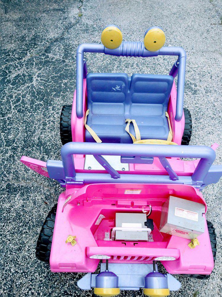 Barbie Power Wheels Car