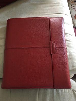 Red leather iPad portfolio Targums for Sale in Huddleston, VA