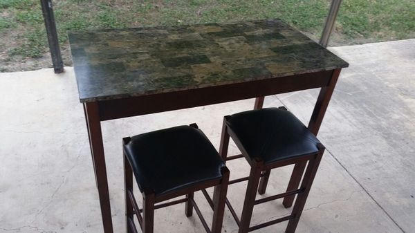 Small Bar Height Table With Two Stools For In San Antonio Tx Offerup