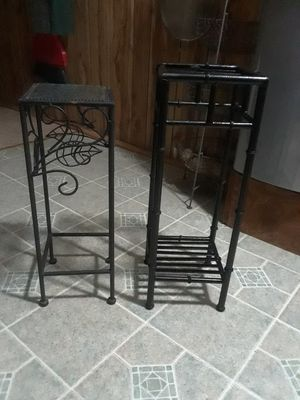 Photo 2 Metal Plant Stand ( 8 x 8 22 height, 7 x 7 20 height ) 20. For both