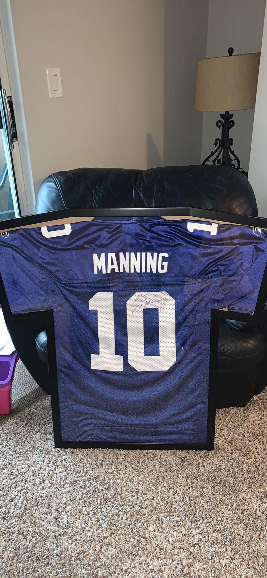 New York Giants Eli Manning Autographed Framed Jersey
